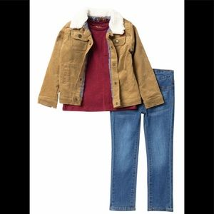7 for All Man Kind 3 Piece Jacket & Jean Set, 2T